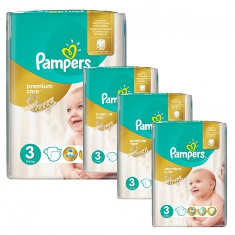 Pampers - Maxi Giga Pack 240 Couches Premium Care - Prima taille 3 sur Couches Poupon