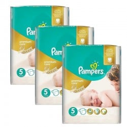 Pampers - Giga Pack 208 Couches Premium Care - Prima taille 5 sur Couches Poupon