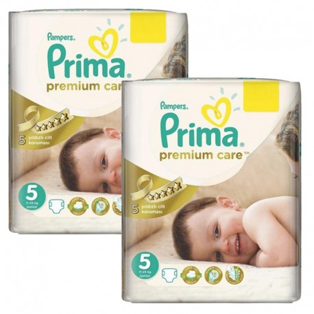 Pampers - Giga Pack 126 Couches Premium Care - Prima taille 5 sur Couches Poupon