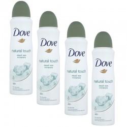 Dove - Lot 4 Deodorants Natural Touch sur Couches Poupon