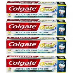 Lot de 4 Dentifrices Colgate 75 ml Total Action en Profondeur sur Couches Poupon