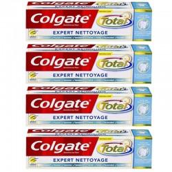 Lot de 4 Dentifrices Colgate 75 ml Total Expert Nettoyage sur Couches Poupon