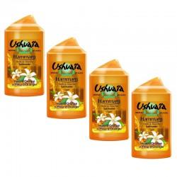 Lot de 4 Huiles de Douche Ushuaia 250 ml Hamamm Huile d'Onagre & Fleur d'Oranger sur Couches Poupon