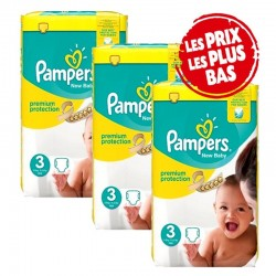 Pampers - Giga Pack 200 Couches New Baby - Premium Protection taille 3 sur Couches Poupon