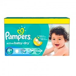 Pampers - Pack 96 Couches Active Baby Dry taille 4+