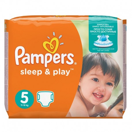 Pampers - Pack 58 Couches Sleep & Play taille 5 sur Couches Poupon