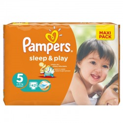 Pampers - Pack 42 Couches Sleep & Play taille 5 sur Couches Poupon