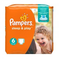 Pampers - Pack 30 Couches Sleep & Play taille 6 sur Couches Poupon