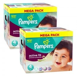 Pampers - Maxi Pack 840 Couches Active Fit - Premium Protection taille 4