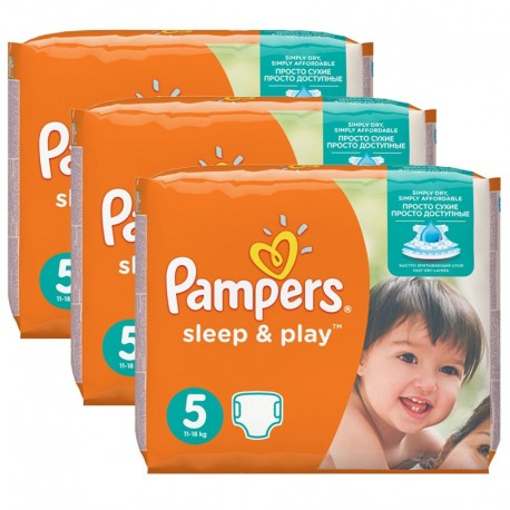 Pampers - Mega Pack 116 Couches Sleep & Play taille 5 sur Couches Poupon