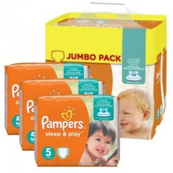 Pampers - Giga Pack 348 Couches Sleep & Play taille 5 sur Couches Poupon