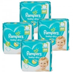 Pampers - Mega Pack 138 Couches Baby Dry taille 7 sur Couches Poupon
