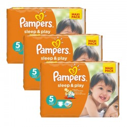 Pampers - Mega Pack 126 Couches Sleep & Play taille 5 sur Couches Poupon
