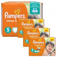 Pampers - Mega Pack 252 Couches Sleep & Play taille 5 sur Couches Poupon