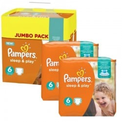 Pampers - Maxi Pack 150 Couches Sleep & Play taille 6 sur Couches Poupon