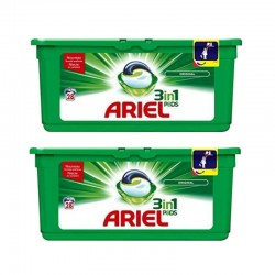Lot de 2 Ariel Pods 28 Original 3in1 (795,2 gr) sur Couches Poupon