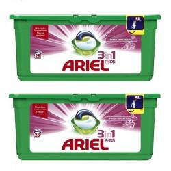 Lot de 2 Ariel Pods 28 Fresh Sensations 3in1 (795,2 gr) sur Couches Poupon