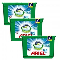 Lot de 3 Ariel Pods 16 Original 3in1 (454,4 gr) sur Couches Poupon