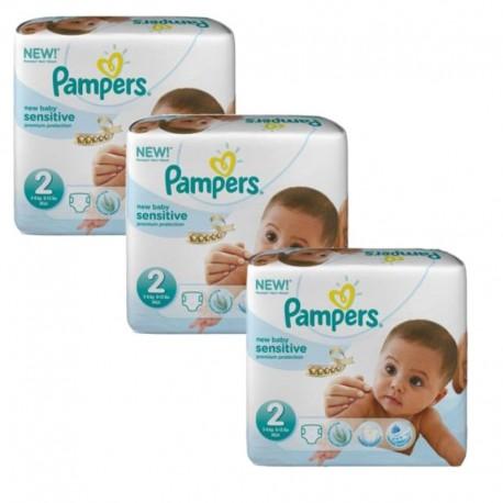 Giga Pack 180 couches Pampers New Baby Sensitive sur Couches Poupon