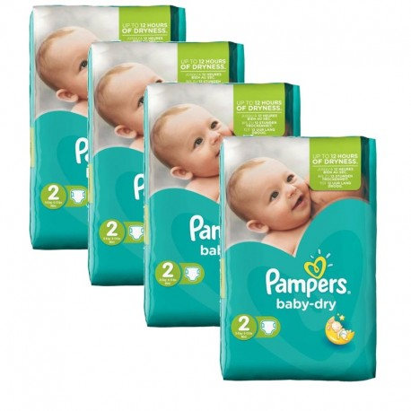 Pampers - 168 Couches Baby Dry sur Couches Poupon