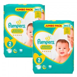 Pampers 136 Couches New Baby Premium Protection sur Couches Poupon