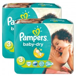Pampers - Mega Pack 170 Couches Baby Dry taille 3