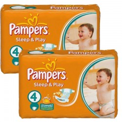 Pampers - Mega Pack 108 Couches Sleep & Play taille 4 sur Couches Poupon