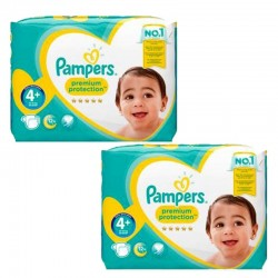 Pampers - Giga Pack 124 Couches new baby - premium protection taille 4+ sur Couches Poupon