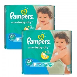 Maxi Pack 108 Couches Pampers Active Baby Dry sur Couches Poupon