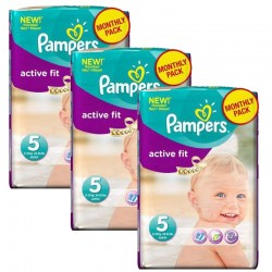 Pampers - Maxi Pack 282 Couches Active Fit sur Couches Poupon