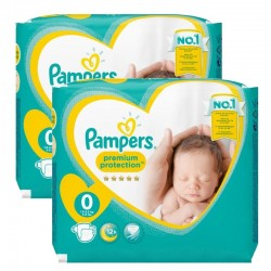 Pampers Pack 48 Couches New Baby Premium Protection taille 0 sur Couches Poupon