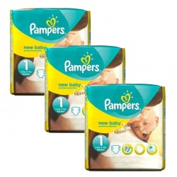 Pampers Pack 69 Couches New Baby Premium Protection taille 1 sur Couches Poupon