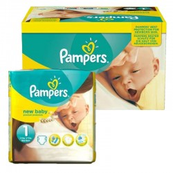 Pampers Maxi Pack 92 Couches New Baby Premium Protection taille 1 sur Couches Poupon