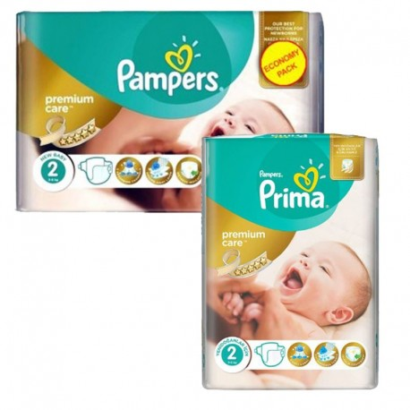 Pampers - Pack 114 Couches new baby - premium protection sur Couches Poupon