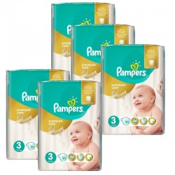 Giga Pack 140 Couches Pampers Premium Care Prima