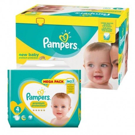Mega Pack 390 Couches Pampers New Baby Premium Protection sur Couches Poupon