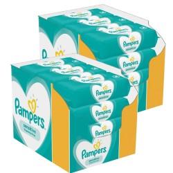 Sensitive Baby - 504 Lingettes Bébés Pampers - 9 Packs de 56 sur Couches Poupon