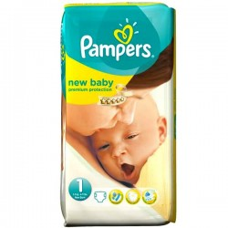 New Baby - 54 Couches Pampers taille 1 sur Couches Poupon