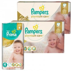 Maxi Mega Pack 320 Couches Pampers Premium Care Prima sur Couches Poupon