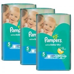 Pampers - Mega Pack 264 Couches Active Baby Dry sur Couches Poupon