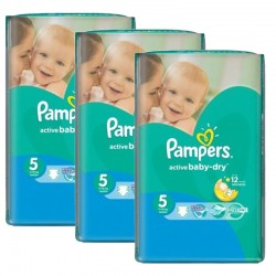 Giga Pack 264 couches Pampers Active Baby Dry sur Couches Poupon