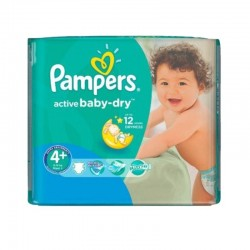 Pack 70 couches Pampers Active Baby Dry sur Couches Poupon