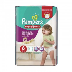 Pack 16 couches Pampers Active Fit Pants sur Couches Poupon