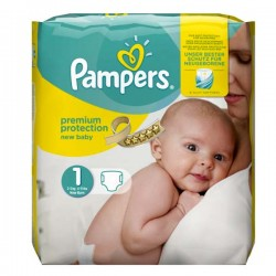 New Baby Dry - 27 Couches de Pampers taille 1 sur Couches Poupon