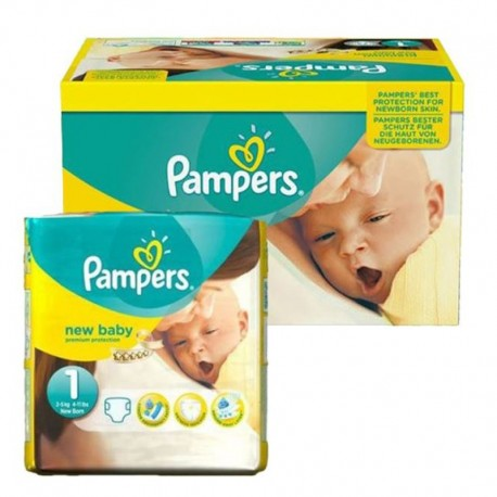Pampers - Pack 96 Couches New Baby Premium Protection taille 1 sur Couches Poupon