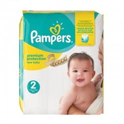 Pampers Pack 22 Couches New Baby Premium Protection sur Couches Poupon
