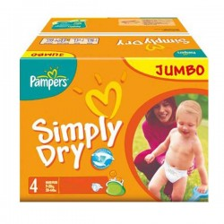 Simply Dry - 240 Couches Pampers taille 4 sur Couches Poupon