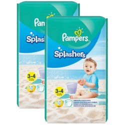Pampers - Maxi Pack 36 Couches de bains Splashers taille 3