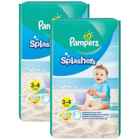 Giga Pack 36 Couches de Bain Pampers SPLASHERS sur Couches Poupon