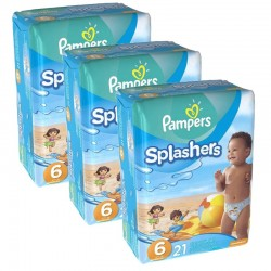 Giga pack 63 Couches de Bain Pampers Swimming Pants Splashers sur Couches Poupon